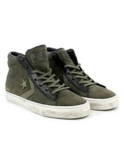 Converse Unisex Adults' Lifestyle Pro Leather Vulc Distressed Mid ...
