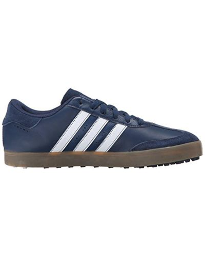 adidas Leather Adicross V Golf Spikeless Shoe in Blue for Men - Lyst