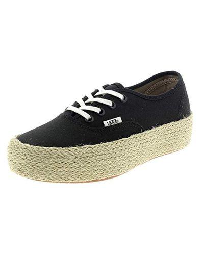 Authentic Platform ESP, Baskets Femme Vans en coloris Noir - Lyst