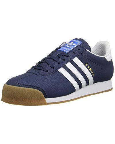 adidas Originals Samoa Retro Sneaker in Blue for Men - Lyst