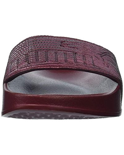 PUMA Leadcat Leather Wn Slide Sandal - Lyst