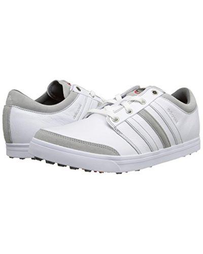 adidas Leather Adicross Gripmore Golf Shoe in White for Men - Lyst