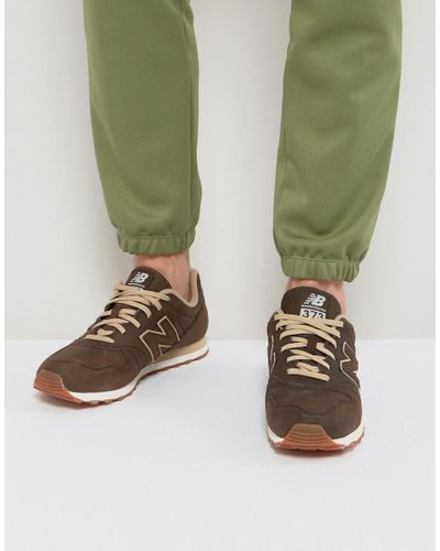 New Balance 373 Leather Trainers In Brown Ml373bla in Black for ...