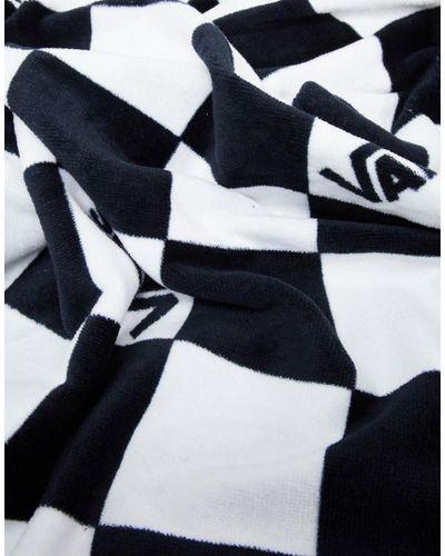 Serviette de plage damier Vans pour homme en coloris Noir - Lyst