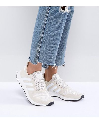 adidas Originals Originals Swift Run Trainers In Cream With White ...