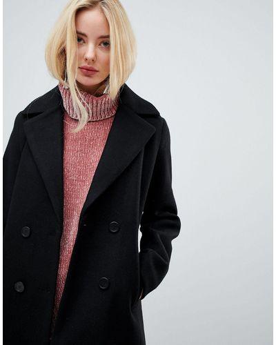 Fashion Union Smart Coat In Black Lyst, Fashion Union Pea Coat