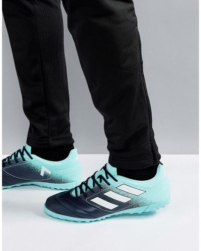 adidas Rubber Football Ace 17.4 Astro Turf Sneakers In Blue S77114 ...