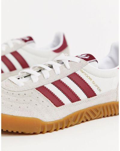 adidas Originals Suede Indoor Super Trainers in White for Men - Lyst