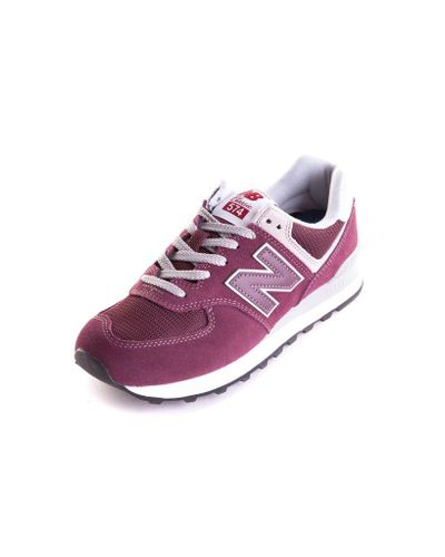 New Balance Suede Sneakers Bordeaux in Red for Men - Lyst
