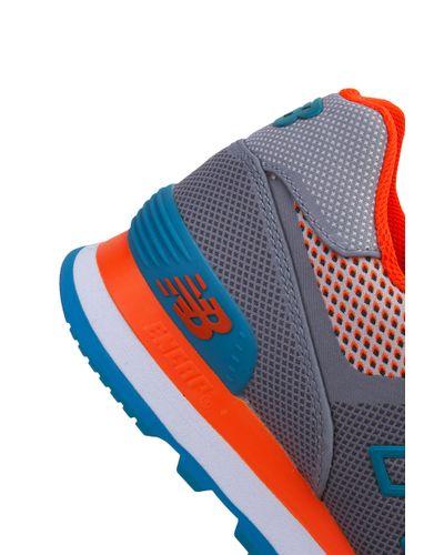 New Balance Woven 574 Sneakers - Grey/orange/blue - Lyst