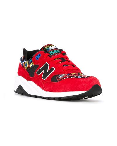 New Balance '580 Elite Edition' Sneakers in Red - Lyst