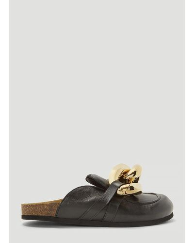 JW Anderson Leather Loafer Mules in Black - Save 17% - Lyst