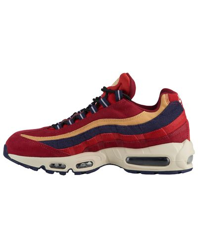 Nike Suede Air Max 95 Prm Low-top Sneakers in Red for Men - Lyst
