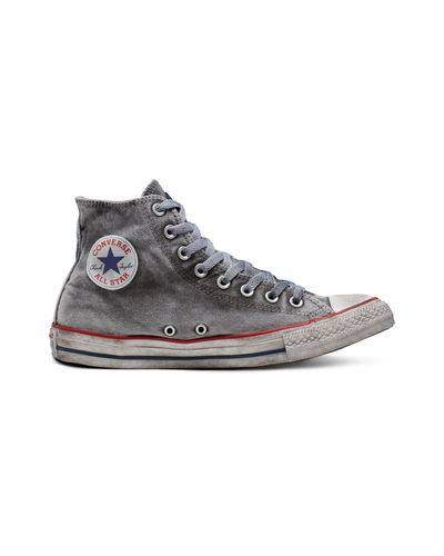 Converse Chuck Taylor All Star Patchwork Smoke High Top in Black ...