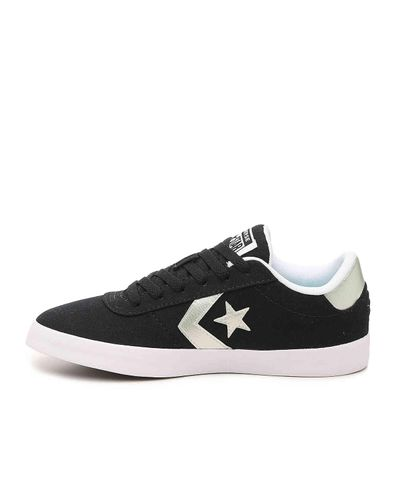 Converse Satin Point Star Ox Shoes - Black - Lyst