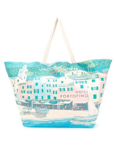 Sac cabas I Love Italy Coton Jacob Cohen en coloris Blanc - Lyst
