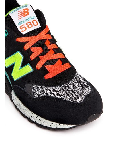 New Balance '580 Elite Edition' Mesh Suede Sneakers - Lyst