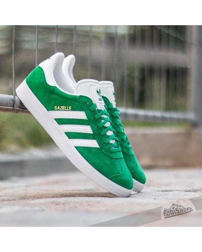 adidas Originals Adidas Gazelle Green/ White/ Gold Met for Men - Lyst