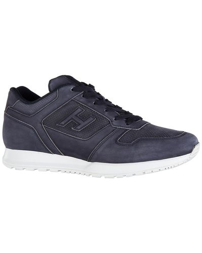 Hogan Shoes Leather Trainers Sneakers H321 Foratura in Blue for ...