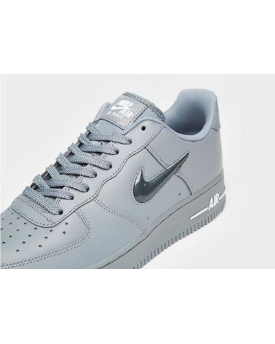 Nike Leather Air Force 1 Essential Jewel in Grey/White (Gray) for ...