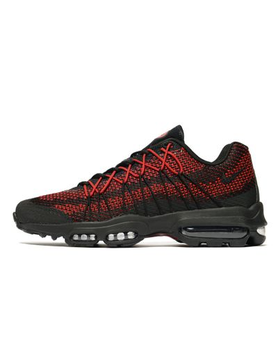 Nike Synthetic Air Max 95 Ultra Jacquard in Black/Red (Red) for ...