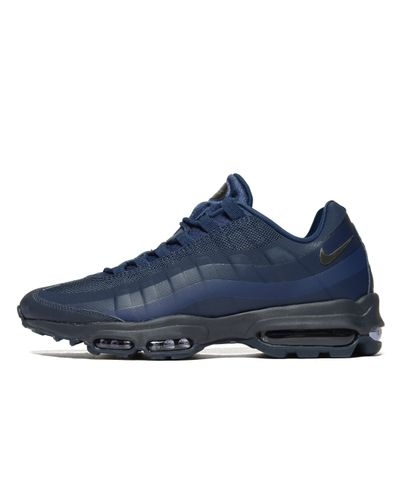 Nike Leather Air Max 95 in Navy/Black (Blue) for Men - Lyst