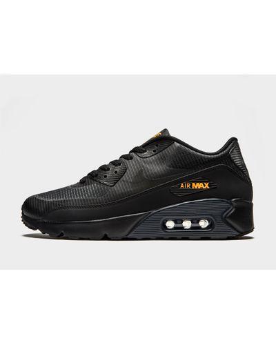 Nike Synthetic Air Max 90 Ultra in Black/Orange (Black) for Men - Lyst