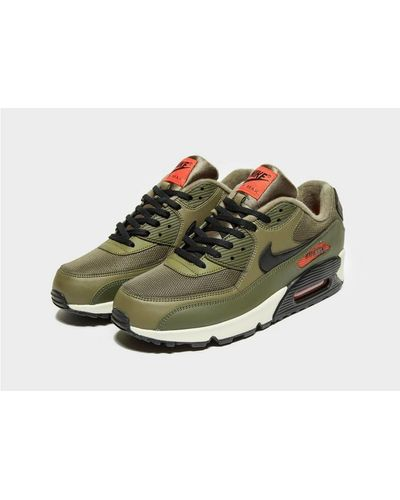 Nike Rubber Air Max 90 Essential in Olive/Black/Orange (Green) for ...