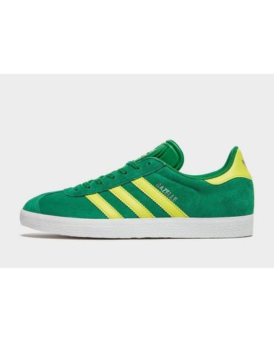adidas Originals Suede Gazelle in Green/Yellow (Green) for Men ...