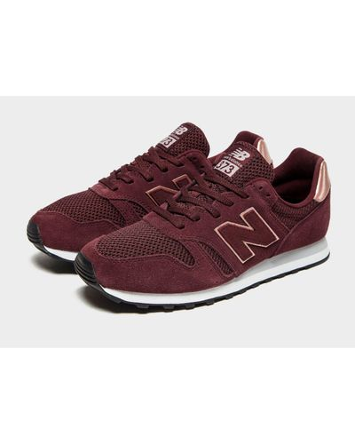 New Balance Suede 373 in Burgundy/Rose Gold (Red) - Lyst