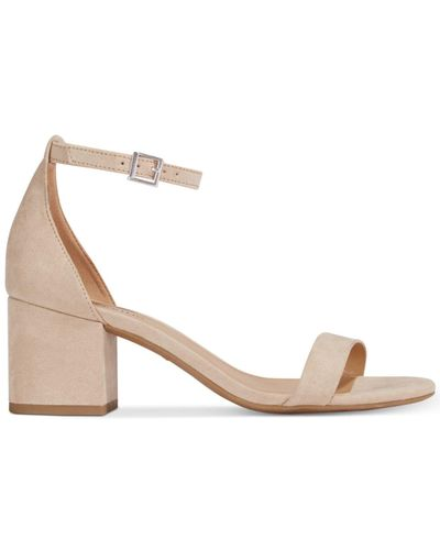 Chambray Blue Women/'s Call It Spring Stangarone Block Heeled Open Toe Sandals