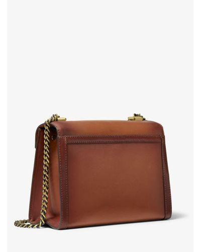 Grand sac convertible Whitney porté épaule en cuir bruni Michael ...