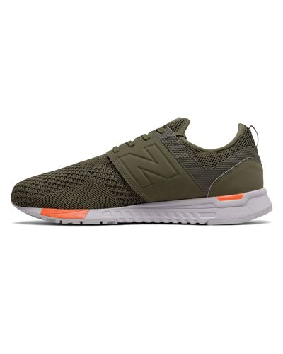 New Balance Synthetic 247 Knit in Olive/Green (Green) for Men - Lyst
