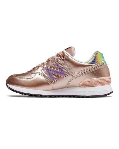 New Balance Leather New Balance 574 Glitter Punk Shoes in Metallic ...