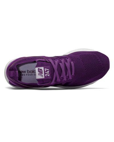 New Balance Suede 247 Engineered Mesh in Purple - Lyst