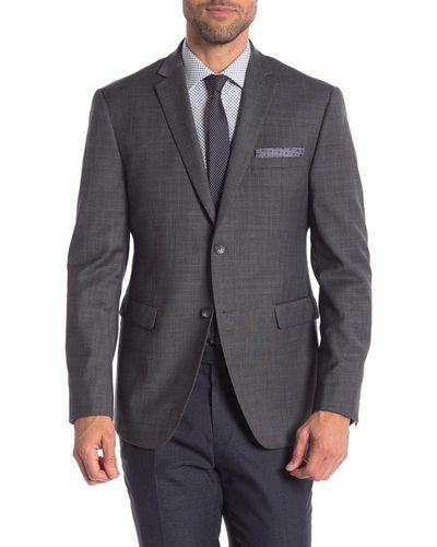 Palm Beach Mens Jim Charcoal Stripe Suit Separate Jacket
