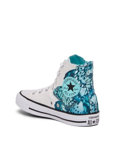 Converse Chuck Taylor All Star Butterfly Graphic High Top Sneaker ...
