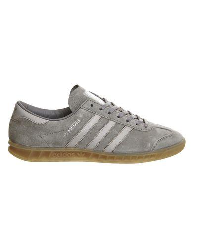 adidas Originals Leather Hamburg in Granite (Gray) for Men - Lyst
