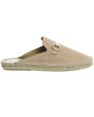 Office Suede Fanfare Espadrille Mules in Nude (Natural) - Lyst