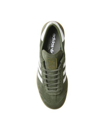 adidas Suede Hamburg Trainers in Khaki (Green) for Men - Lyst
