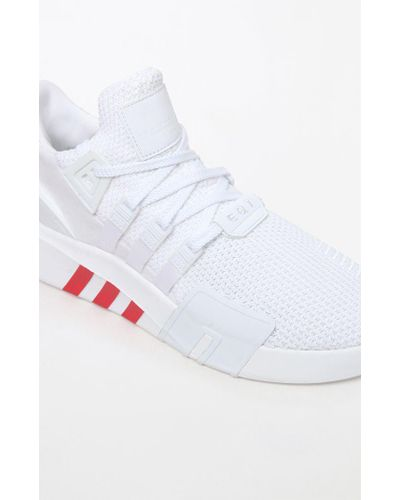 adidas Synthetic Eqt Basketball Adv White & Red Shoes for Men - Lyst