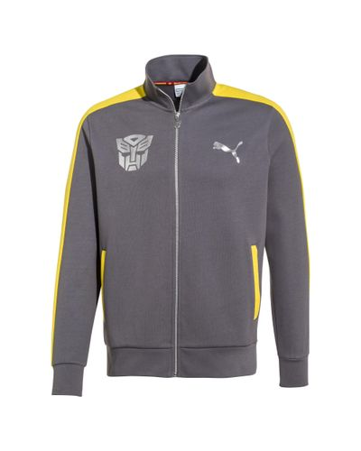 PUMA Cotton X Transformers Track Jacket in Gray for Men - Lyst