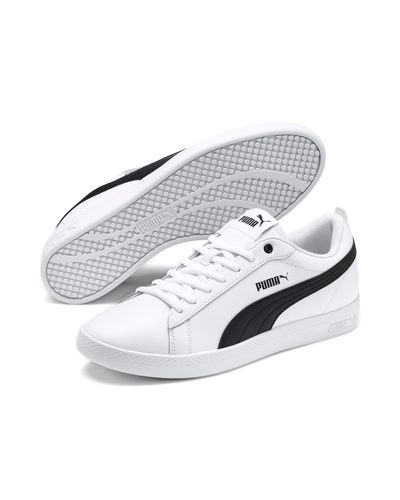 PUMA Smash V2 Leather Women's Sneakers in White - Lyst