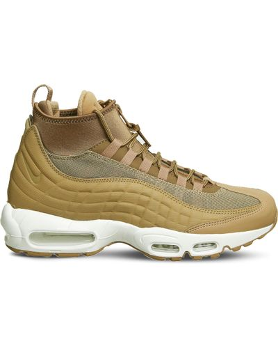 Nike Air Max 95 Sneakerboot Leather And Fabric High-top Trainers ...