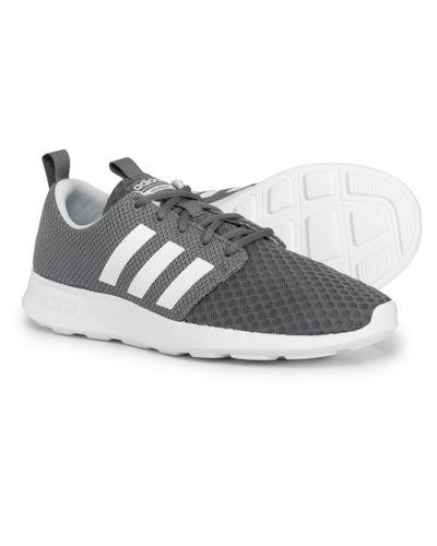 Adidas Gray Cloudfoam® Swift Racer Sneakers (for Men) for men