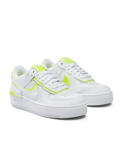 Nike Synthetic Air Force 1 Shadow Neon Accent Sneakers Women in ...