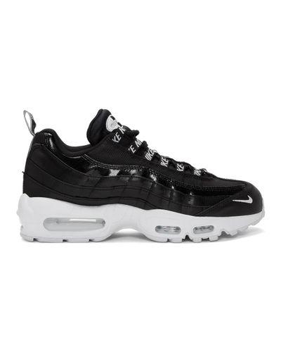 Nike Black And White Airmax 95 Premium Sneakers for Men - Lyst