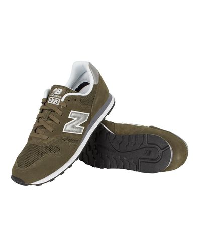 New Balance Leather Dark Green 373 Trainers for Men - Lyst