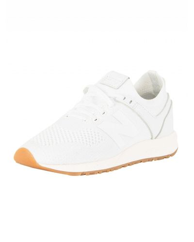 New Balance White/gum 247 Trainers for Men - Lyst
