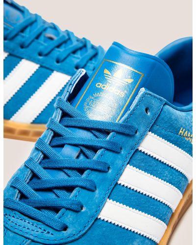 Adidas Originals Mens Hamburg Bluebird/white/gum, Bluebird/white/gum for men